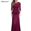 Lace Patchwork Elegant Maxi Lace Dress Women Sexy Skinny Long Bodycon Half Sleeve Dresses Summer Party Vestidos 18 Club Jurken