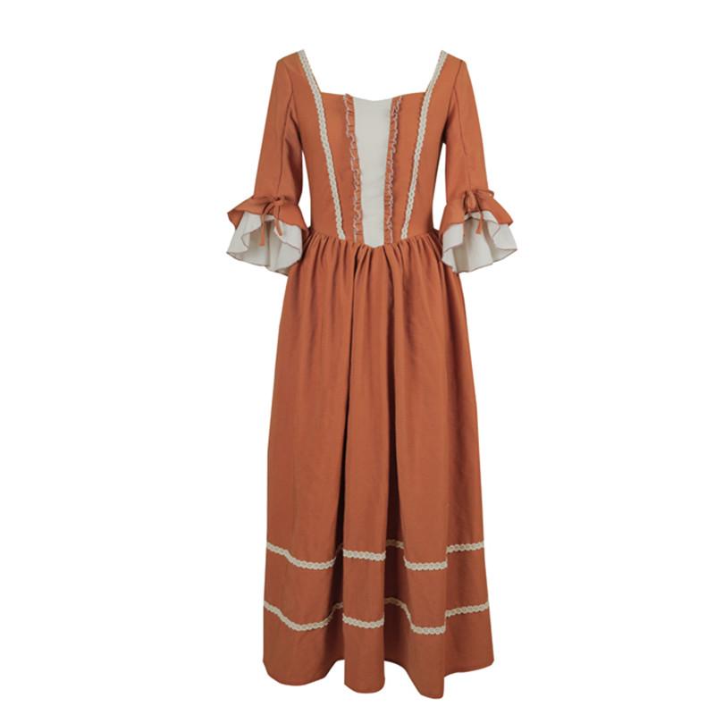 Original Design AIGYPTOS Spring Autumn Women French Rural Style Vintage Dresses Elegant Slim Cotton Corduroy Long Princess Dress 3