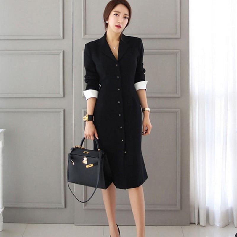 19 Runway Autumn Women straight knee-length Casual half sleeve dress slim office lady Work Wear Slim Button dresses Vestidos 1