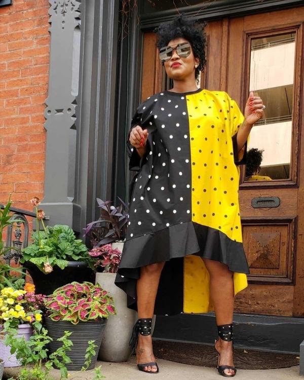 Plus Size O-Neck Midi Dot Print Dress Womensexy Night Half Sleeve Loose Dress Vintage Casual Irregular Dresses