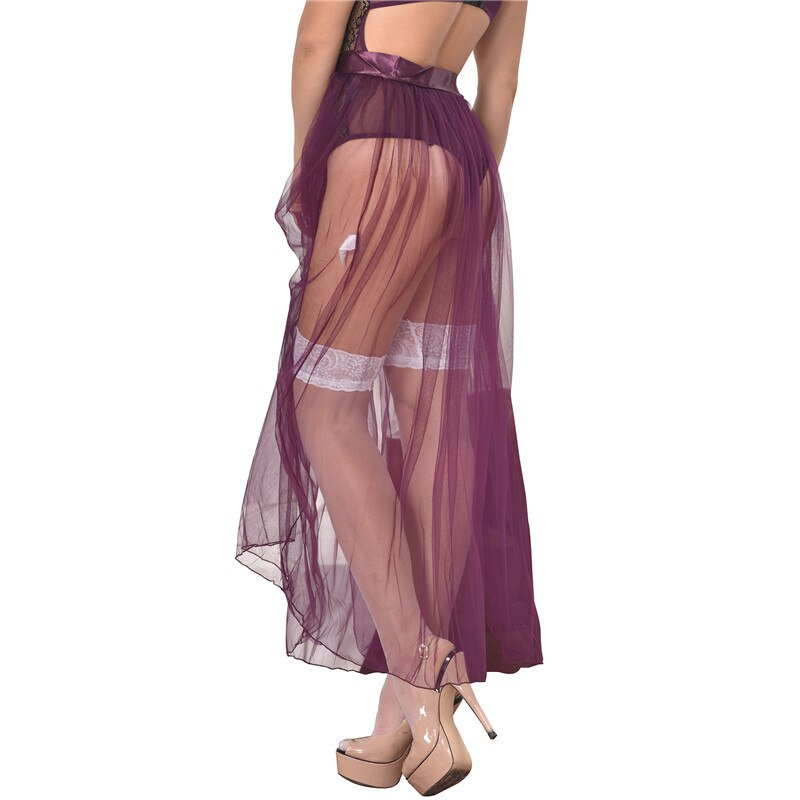RS80272 Skirts Womens New Arrival Hot Sale Purple Transparent Skirt Solid Plus Size XL Sexy Skirts Womens 19 See Through 3