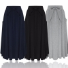 ZANZEA Women Long Skirt 19 Elegants Elastic High Waist Pockets Pleated Skirts Casual Solid Loose Mid-calf Skirts Plus Size 2XL