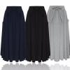 ZANZEA Women Long Skirt 19 Elegants Elastic High Waist Pockets Pleated Skirts Casual Solid Loose Mid-calf Skirts Plus Size 2XL