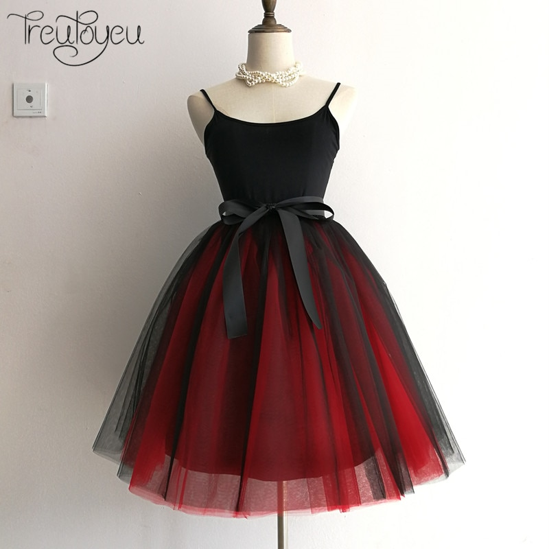7 Layers 65cm Long Women Skirt Princess Tutu Tulle Skirts Fashion Ball Gown Lolita Skirt Summer Saias Femininas faldas Jupe