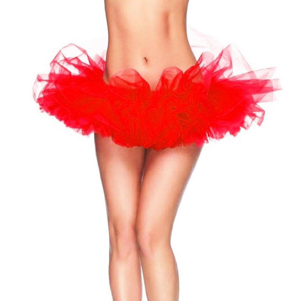 13 Colors Adult Petticoat Fancy Outfit Costume Tulle Tutu Skirt Lady's TUTU Mini Skirt Free Size