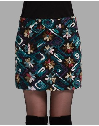 Cloth skirt qiu dong with skirts more female bag hip skirt flower skirt to show thin step skirt bigger sizes