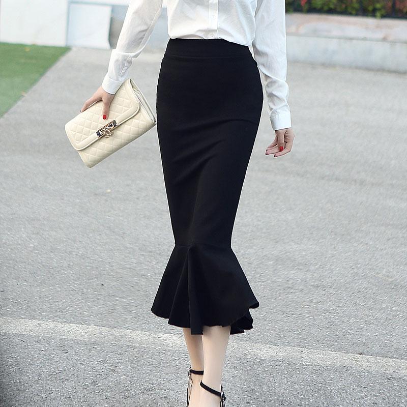 18 Spring Summer OL Formal Women Long Mermaid Skirt Ladies Professional Office faldas formales 1