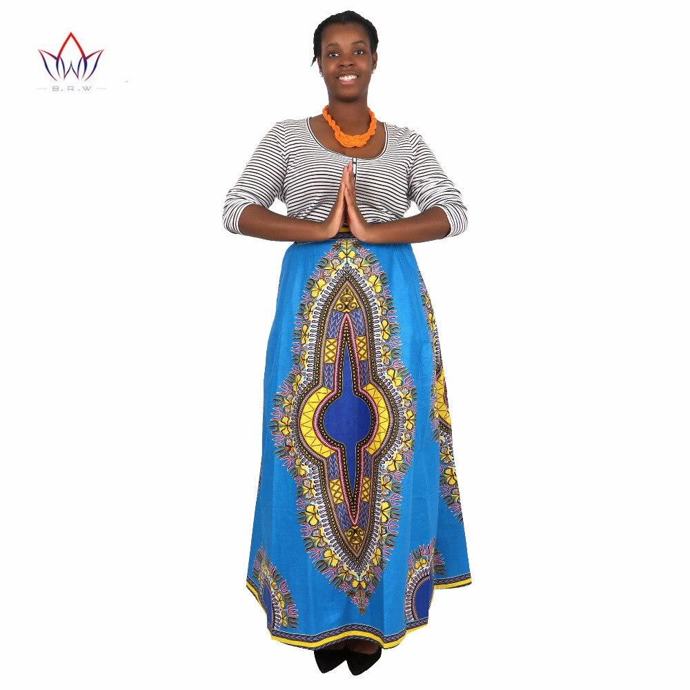 African Skirts for Women Long African Skirts Maxi Skirt Retro Fashion African Clothes Faldas Largas Estampadas 6XL BRW WY1370 2