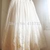 Free Shipping 19 New 100% Cotton Embroidery Flower Crochet Ivory White Women Skirt Summer Long mid-calf Elastic Waist Skirts