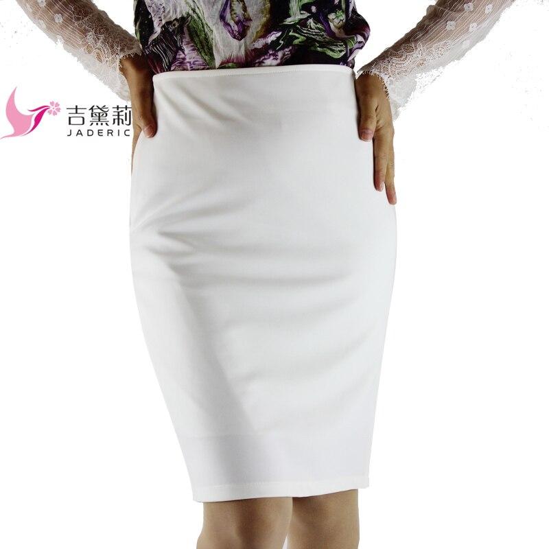 Autumn 4XL Plus Size Slim Sexy Formal Office Skirt Faldas Women High Waist Black White step Pencil Skirt Saias Skirts 18 1