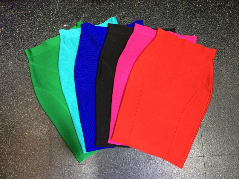 wholesale New High quality Stretch Knit Skirt Fashion casual With Bandage skirt 1