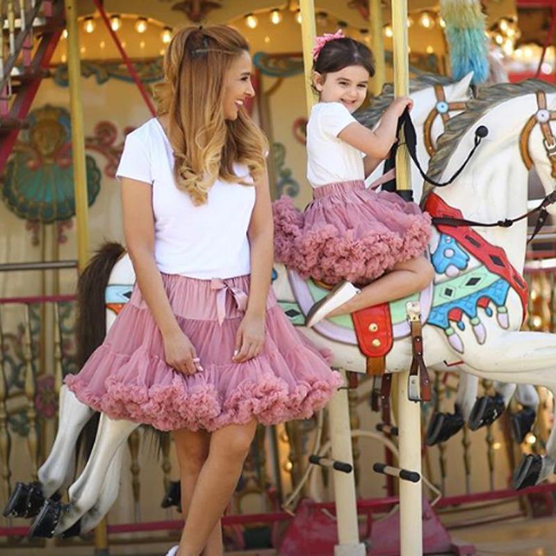 Adult(one size) Child(XS-XXL) Women Pettiskirt Tutu Skirt Ball Gown 2 Layer 1 Lining Fluffy Party Dance Show Girl Skirt Clothing 2