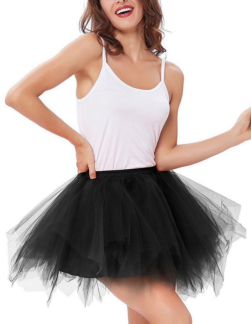 High Quality Women Tulle Tutu Skirt Pleated skirt Sexy Full Lining Adult Dance Ball Gown skirts Hot sale 2