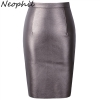 Neophil 19 Winter Sexy Faux Fur Leather Pu High Waist Midi Women Pencil Skirts XXL Office Bodycon Short Girls Tutu Saia S08019