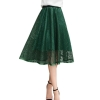 ROPALIA Mesh Women Solid Ball Grown Skirt Fashion Girls Empire Summer Spring Lovely Party Club Skirt