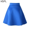 HSPL Mini Skirts Womens High Waist Pleated Midi 17 Summer Vintage Skirt Work Wear Hepburn Skirts Lady American Europe Saia