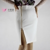 Jaderic 4XL Plus Size Women Pencil Skirts Autumn 18 Elegant High Waist Bodycon Skirt Korean Fashion Zipper Work Office Skirt