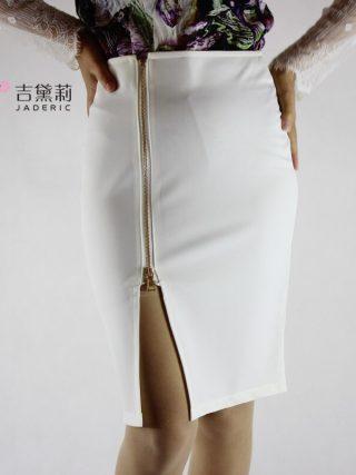 Jaderic 4XL Plus Size Women Pencil Skirts Autumn 18 Elegant High Waist Bodycon Skirt Korean Fashion Zipper Work Office Skirt