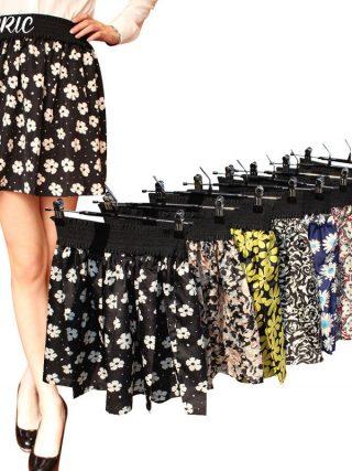 Jaderic 18 new fashion Pleated Retro High Waist Summer floral plaid short chiffon skirts mini skirt | 10 Styles