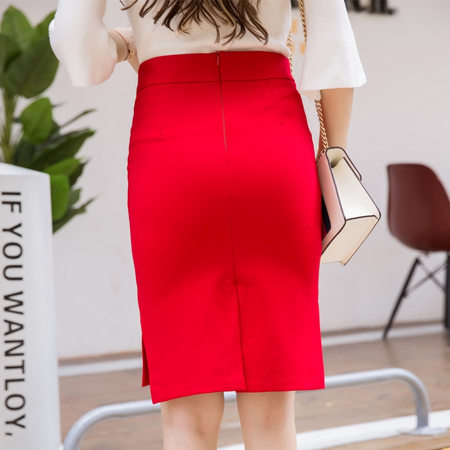 New Fashion Sexy Women Pencil Skirt Casual Slim Summer High Waist Split OL Office Ladies Plus Size Bodycon Work Skirts Black 3