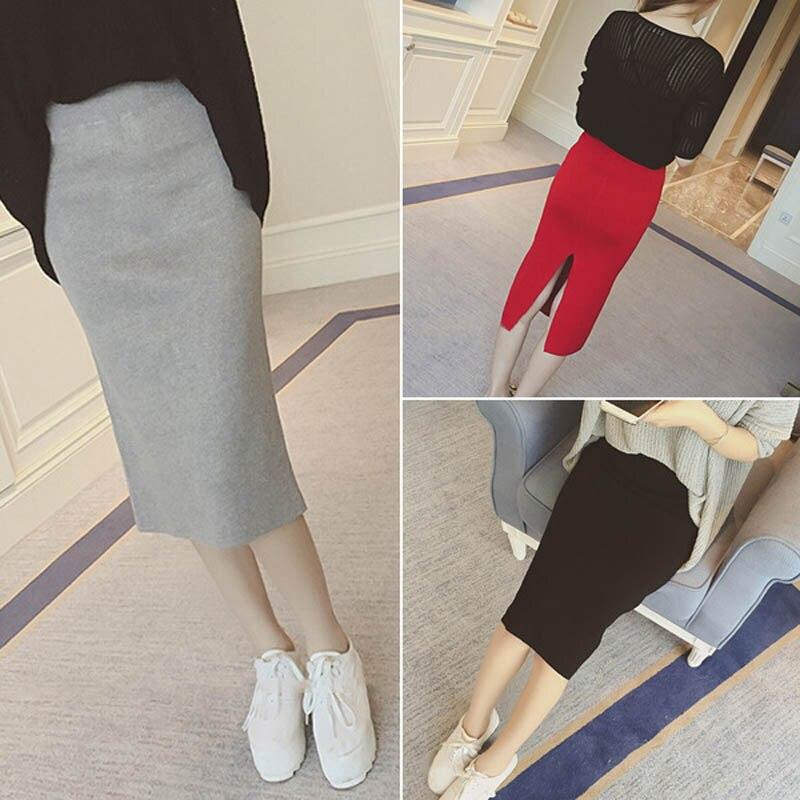 16 Spring autumn and winter when the bag hip skirt step skirt stretch slim slim skirt waist in female