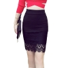 16 Summer New Casual Fashion Elegant Sexy Slim Bodycon Lace Mini Women OL Pencil Skirt Plus Size jupe sexy junior rokken