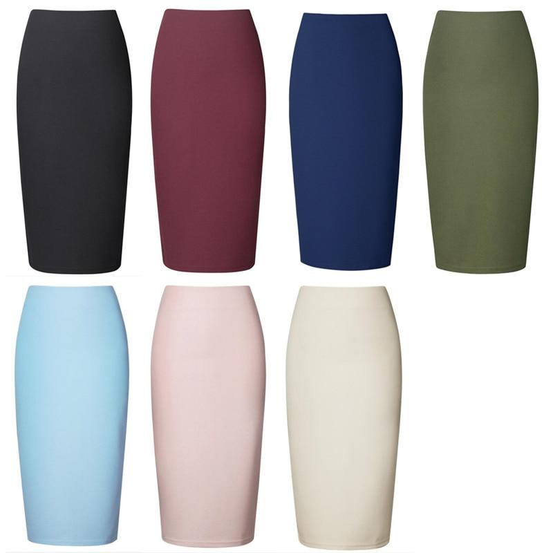 Neophil 19 Winter Sexy Ladies Chiffon Pencil Skirts Midi High Waist Stretch Slim Casual Pink Black Office Work Wear Saia S0311 2