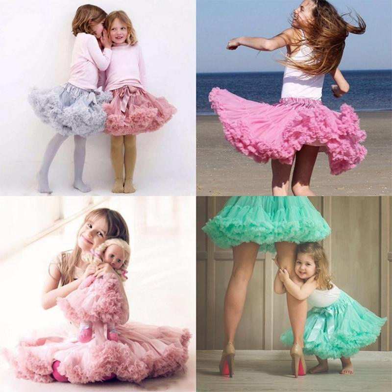 Adult(one size) Child(XS-XXL) Women Pettiskirt Tutu Skirt Ball Gown 2 Layer 1 Lining Fluffy Party Dance Show Girl Skirt Clothing 3
