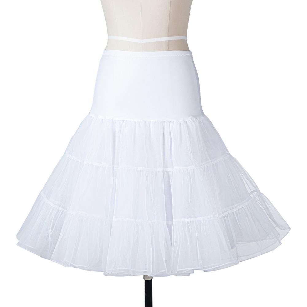 12 colors white Lady Girls skirts tulle Underskirt Rockabilly Dance Petticoat Crinoline Retro Vintage tutu Skirt female cheap 2