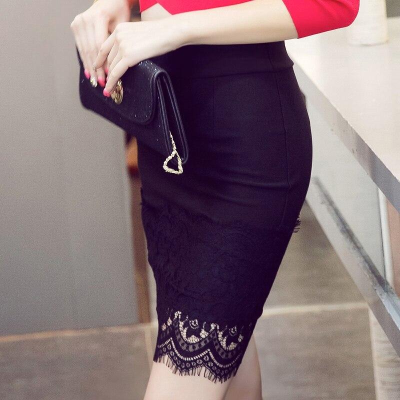 16 Summer New Casual Fashion Elegant Sexy Slim Bodycon Lace Mini Women OL Pencil Skirt Plus Size jupe sexy junior rokken 2