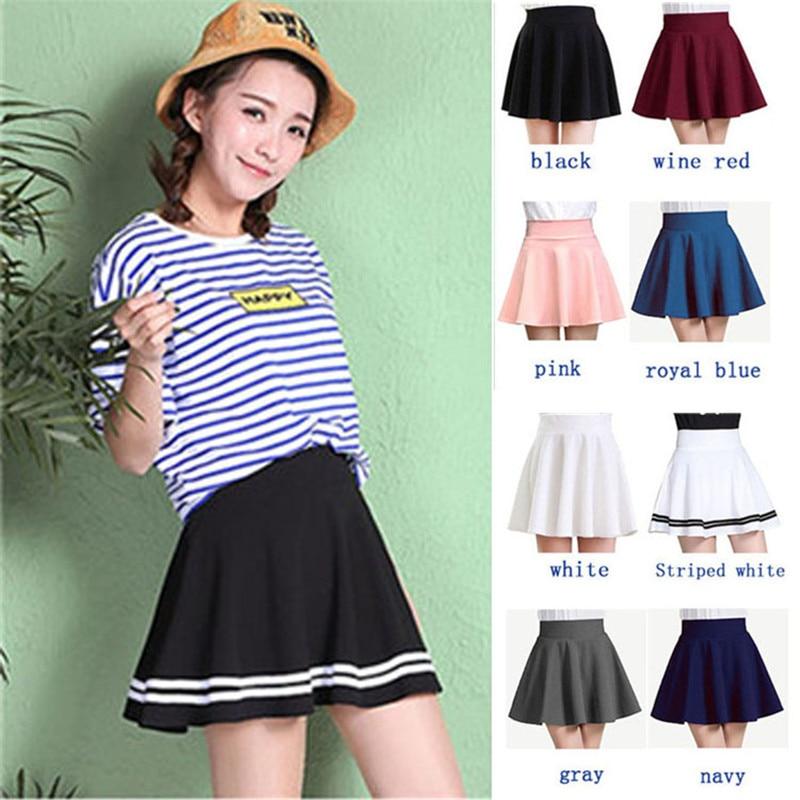 ALSOTO Winter and Summer style Brand women skirt elastic faldas ladies midi skirts Sexy Girl mini short skirts saia feminina 3