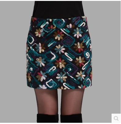 Free shipping !!!Cloth skirt qiu dong with skirts more female bag hip skirt flower skirt to show thin step skirt bigger sizes 1