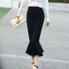 18 Spring Summer OL Formal Women Long Mermaid Skirt Ladies Professional Office faldas formales