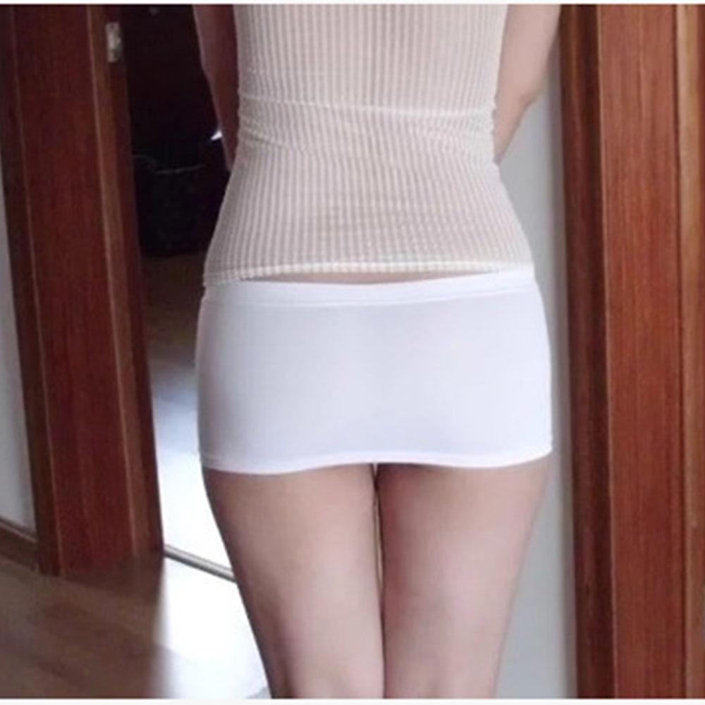 Ladies Hot Bodycon Bandage Elastic Skirt Micro Mini Erotic Low Waist Clubwear Nightclub Sexy Solid Color Black/White 047-2615 3