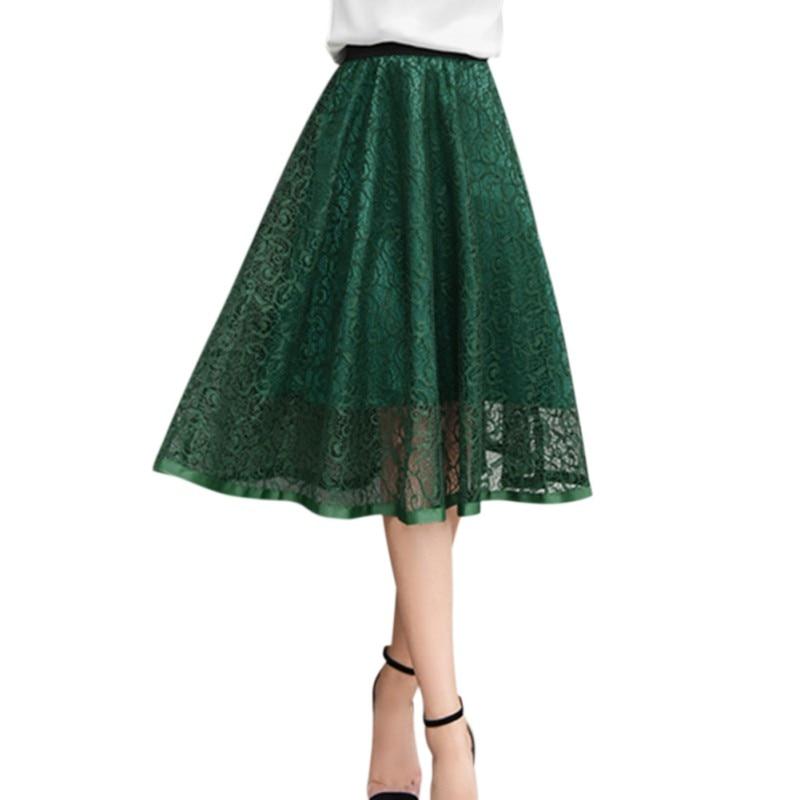 ROPALIA Mesh Women Solid Ball Grown Skirt Fashion Girls Empire Summer Spring Lovely Party Club Skirt 1