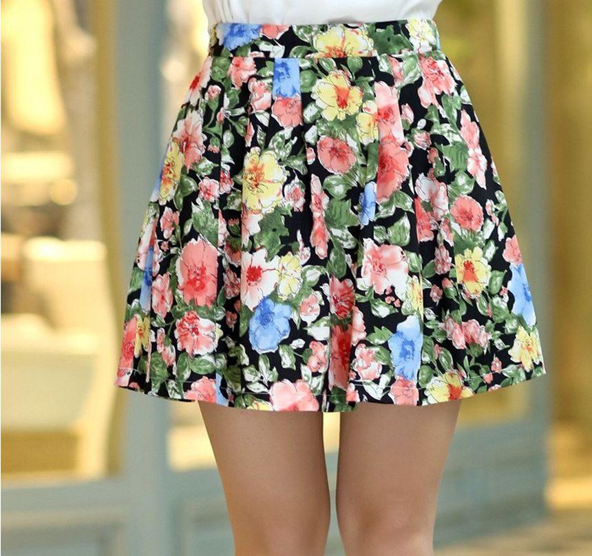 17 women's pleated chiffon slim package hip skirt loose skirt short skirt female bust saia femininas skirts Plus size XXL 1