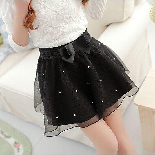 Fashion Women's Skirt Beads High Waist Skirt Pleated Floral Short Mini Skirt Skater Women Knee-Length Skirts 1