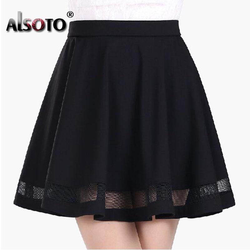 Fashion women skirt kawaii faldas ladies midi skirt Sexy skirts womens Pleated skirts saias Korea clothes summer tutu femme 2