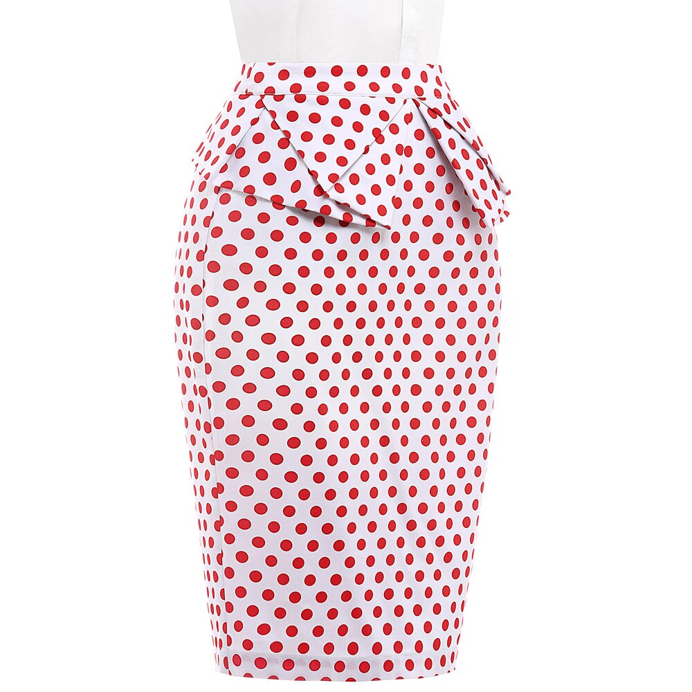 Belle Poque 18 Summer Pencil Skirt Women High Waist Faldas Vintage 50s Elegant Casual Party Bodycon Floral Print Midi Skirts 2