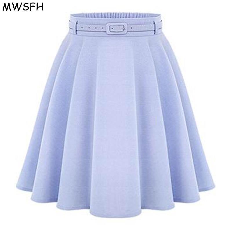 MWSFH Women Bottoms Spring Autumn Women Long Skirts Feminina Saia Longa Faldas Slim Tutu Ladies Black Light Blue Long Skirts de 1