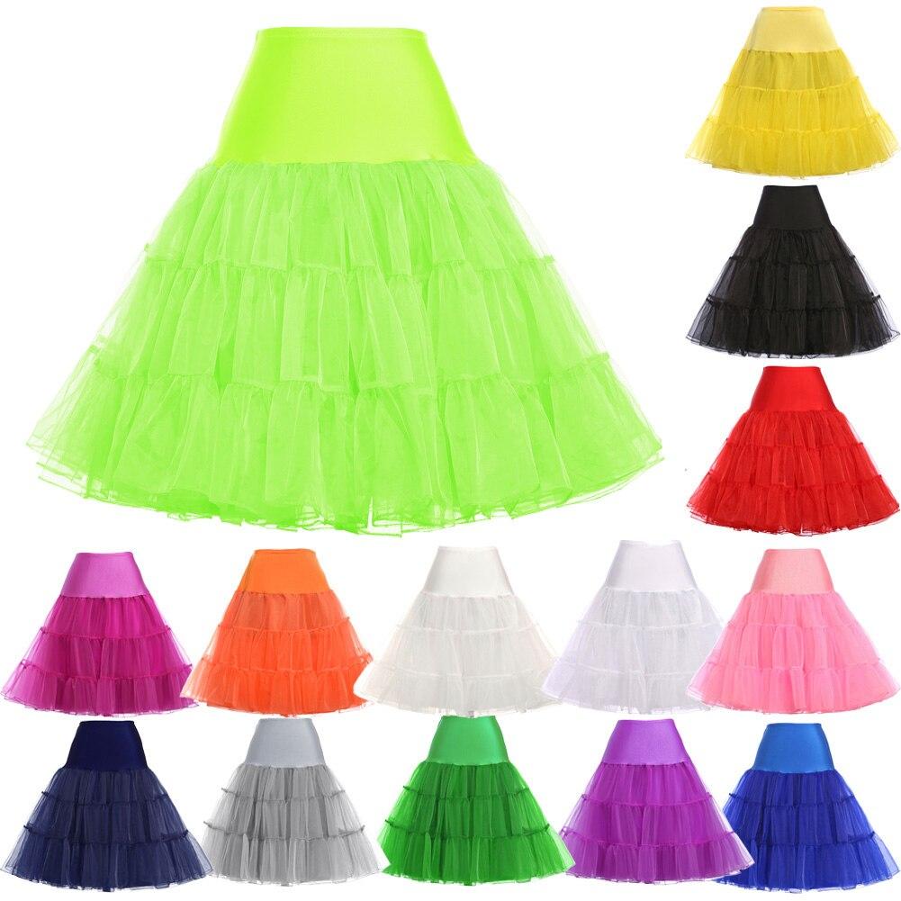 Tulle Skirts Women 18 Summer New Faldas Skirt Big Swing High Waist Saias Jupe Rockabilly Vintage Wiggle Skirt Petticoat 2
