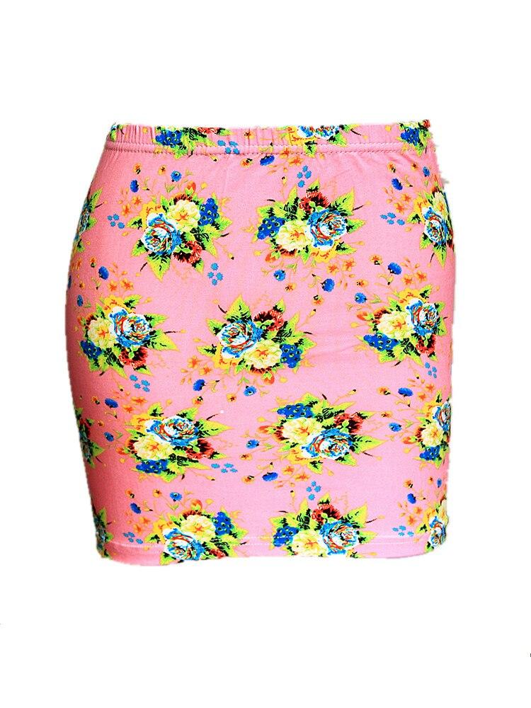 Summer Season Women Low Waist Pencil Skirts Ladies Slim Bodycon Tube Wrap Midi Skirts Floral Cotton Print H150 3
