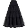 Tulle Skirts Womens Pleated Long Skirt Faldas Black Bridal Wedding Petticoat Midi 19 Skirt Saia Longa Vintage Maxi Skirts