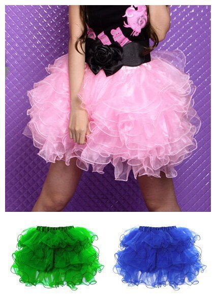 free shipping new sexy cute petticoat tulle tiered tutu mini skirt 7 colors S/M L/XL petticoat skirt in stock