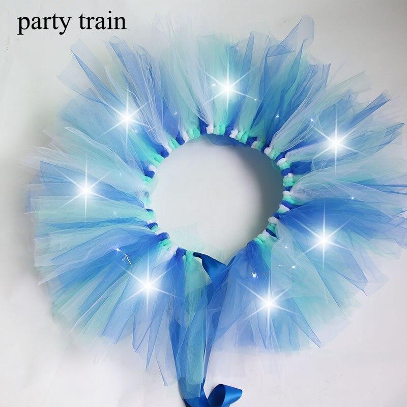 New Arrival Women Tulle Tutu Skirt Sexy Mini Fancy Adult Petticoat Fluffy Yarn Ballet Dance Halloween Led Light Up – Rave 2