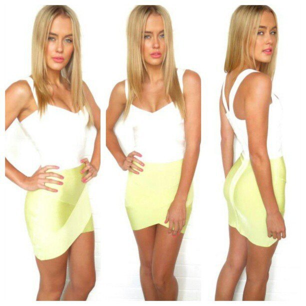 Free Delivery European and American fashion star Various colors cross bandage skirts 3