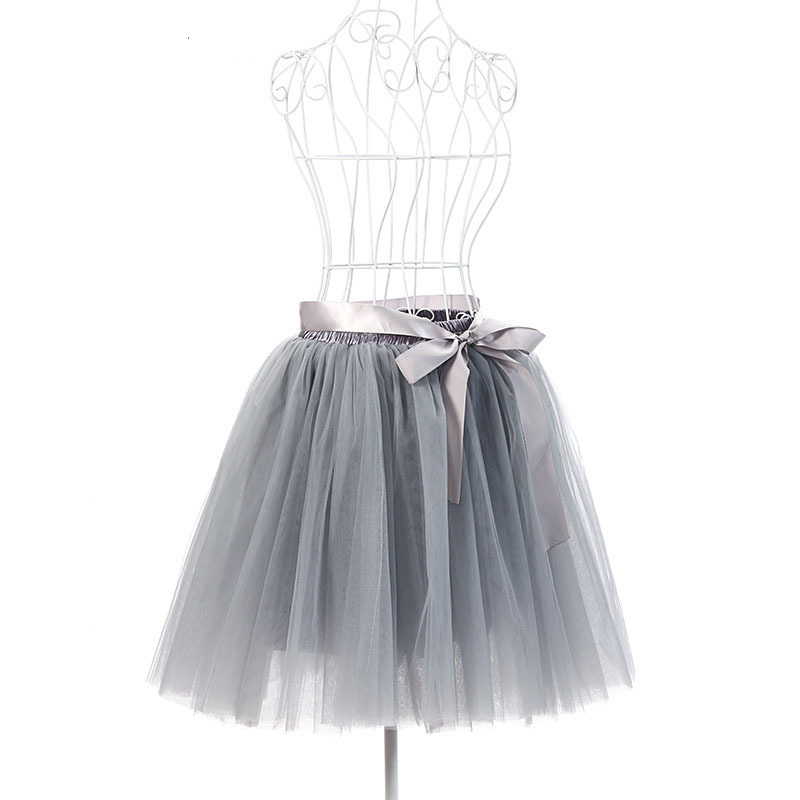 FOLOBE 7 Layers Ballet Dance Midi Tutu Tulle Skirts Women Skirt Lolita Petticoat faldas mujer saias Jupe TT-S 3