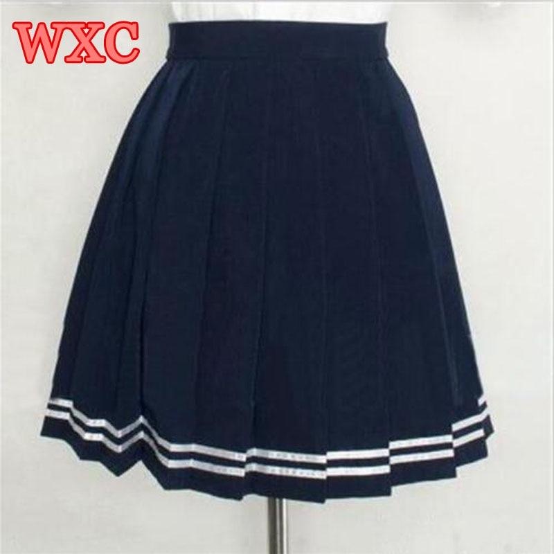 Japanese High Waist Pleated Skirts Anime Cosplay School Uniform JK Student Girls Solid Pleated Skirt Girls WXC 2
