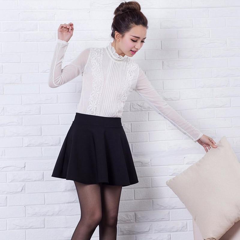 RealShe Women Autumn Pleated Skirt Casual High Waist Short Tutu Skirts Womens Saia Mini 18 Jupe Femme Skirt 2