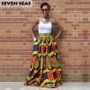 Elegant Long African Print Skirt Vintage Ethnic High Waist Maxi Skirts Jupe Longue Femme
